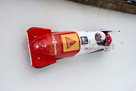 FIBT Bob World Cup 2er Damen in Olympia Bob Run in St. Moritz