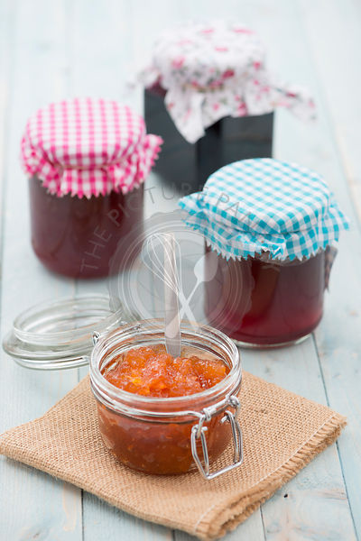 Home made jams, marmalades, jellies and preserves.