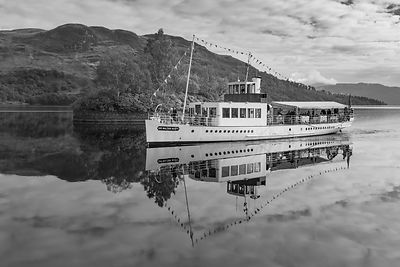 Steamship Sir Walter Scott on Loch Katrine BW version