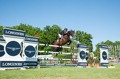Rolf-Göran Bengtsson wins with Casall Ask  the Longines Global Champions Tour Grand Prix in Hamburg. photo: Thomas Reiner