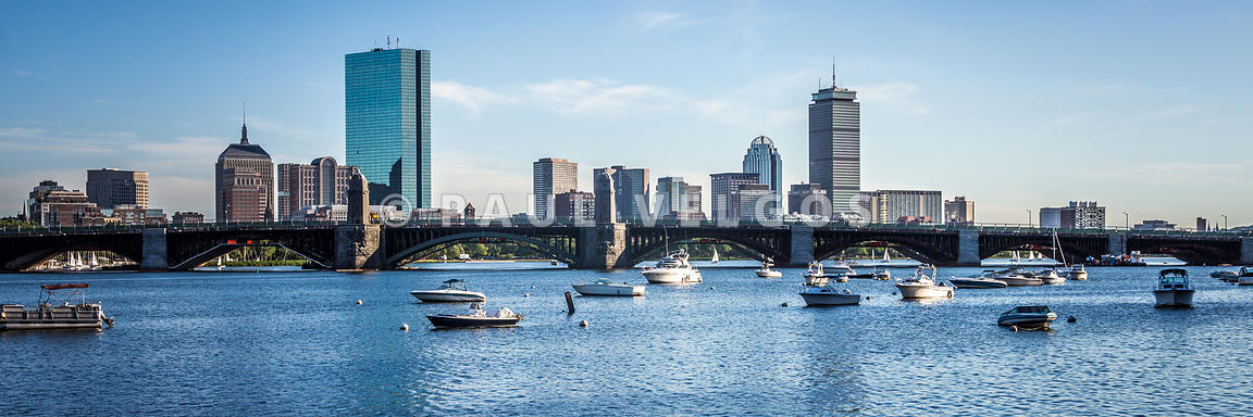 Boston Skyline Longfellow Bridge Panorama Photo