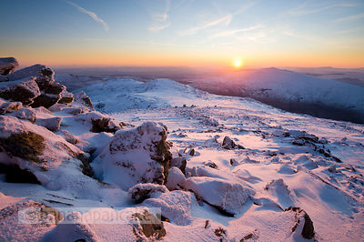 Winter sunrise from Glyder Fach - BP2808