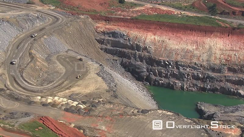 Aerial shot of an opencast mine Johannesburg Gauteng South Africa
