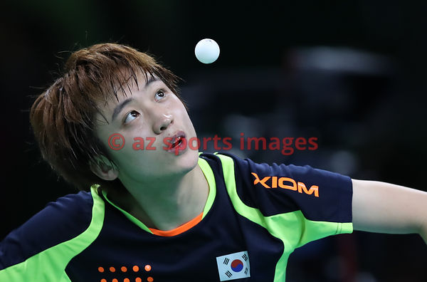 RIO DE JANEIRO, Brazil, AUGUST 8. #TABLE TENNIS, MEN'S SINGLES . JEOUNG Youngsik (KOR)  V/S MA Long (CHN)Photos azsportsimage...