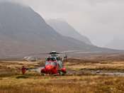 Royal Navy search and rescue Sea King helicopter XZ920, Glencoe