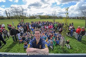 21st April, 2012. Castleknock GFC football nursery, Carpenterstown, Dublin. Pictured is Club Chairman with all of the parents...