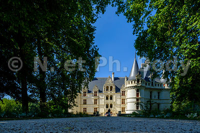 AZAY-LE-RIDEAU, INDRE ET LOIRE//CASTLE OF AZAY, LOIRE VALLEY, FRANCE