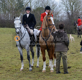 Followers at the meet at the Quorn kennels