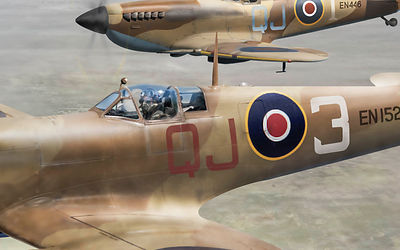 Spitfires over Tunisia (detail)