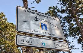 Road Indicator During on Mount Ventoux