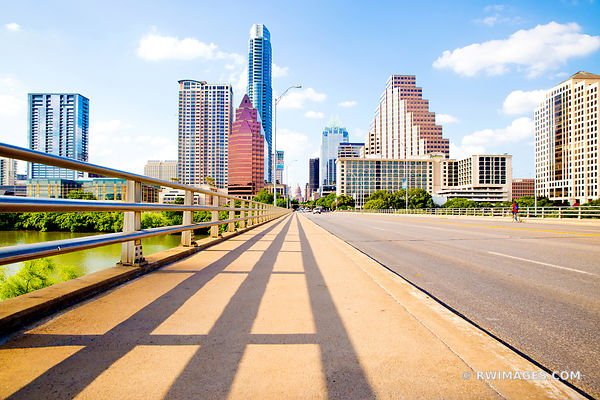CONGRESS AVENUE BRIDGE DOWNTOWN AUSTIN TEXAS COLOR
