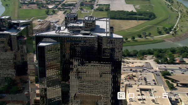 Black towers in Fort Worth, Texas.