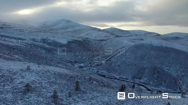 Cairngorm Mountains Scotland UK in WInter Snow