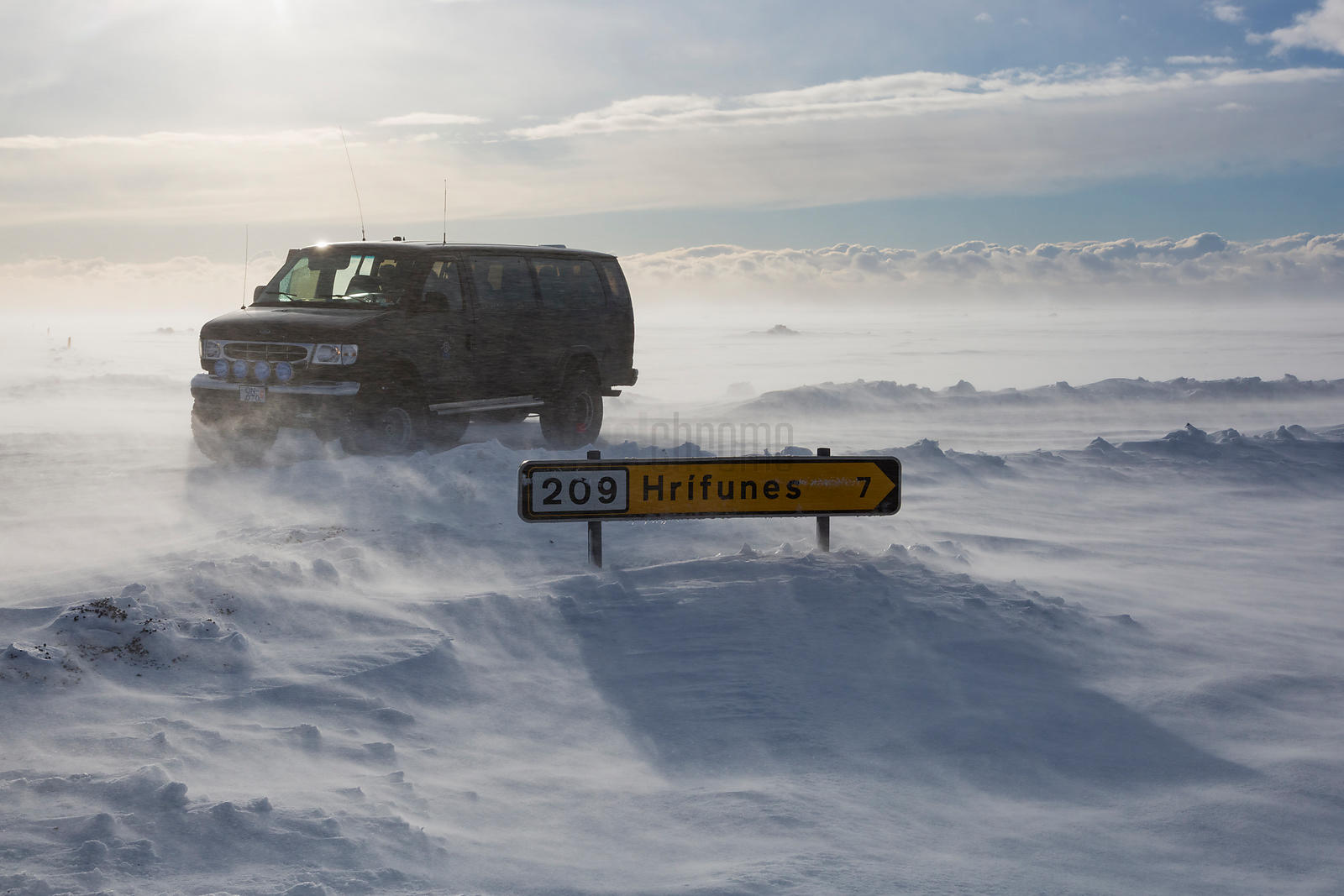 Blizzard Conditions in South East Iceland