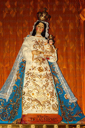 Figure of Virgen de las Nieves inside cathedral , Arequipa , Peru