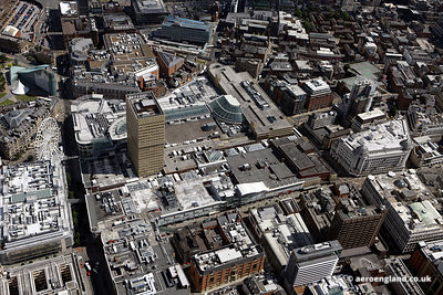 aerial photograph of ManchesterArndale Shopping Centre