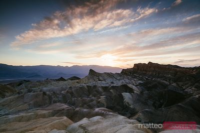 Zabriskie point at sunset, Death valley, USA