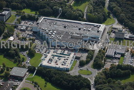Skelmersdale aerial photograph of the rear of the Concourse shopping centre and the multi story car park