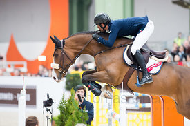 Paris, France, 17.3.2018, Sport, Reitsport, Saut Hermes - .PRIX GL Events Bild zeigt Edward LEVY(FRA) riding Rebeca Ls...17/0...