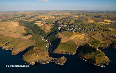 Boscastle  from the air