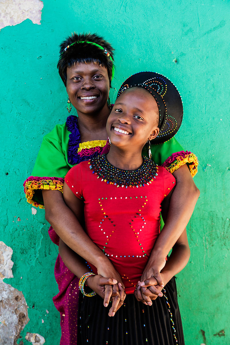 Zulu Mother and Daughter Heading to Traditional Dance Festival