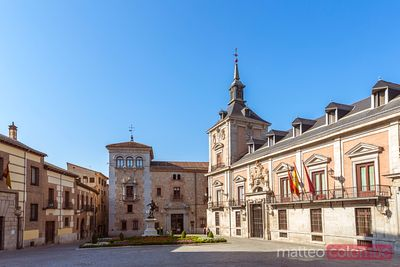 Plaza de la Villa with the former city hall, Madrid, Spain