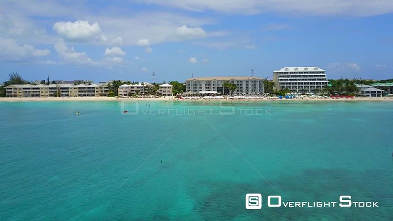 Vacationing People Marriott Beach Resort Cayman Islands Caribbean