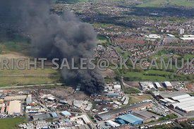 Fire at recycling Plant Salmon Fields Oldham