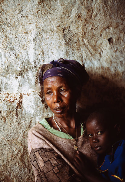 Rwanda - Kibileze - Nadine Uhatswenayo (11) and her grandmother.