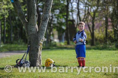 21st April, 2012. Castleknock GFC football nursery, Carpenterstown, Dublin. Pictured is young hurler Enda Mullen.Photo:Barry ...
