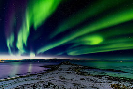 Northern lights over Lofoten