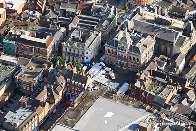 aerial photograph of Ipswich Town Hall