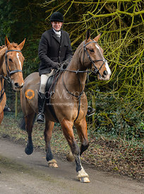 Leaving the Cottesmore Hunt meet at Little Dalby Hall