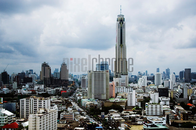 View of Baiyoke Tower II, Bangkok