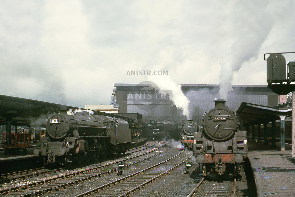 Carlisle station with steam locos