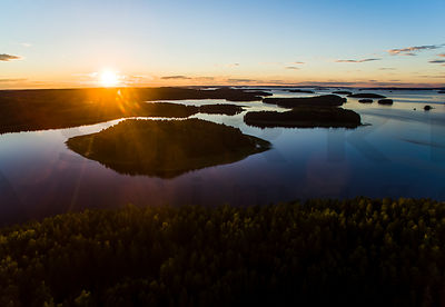 Sunset in Päijänne National Park