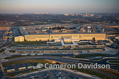 Aerial photo of the Pentagon in Arlington, Virginia