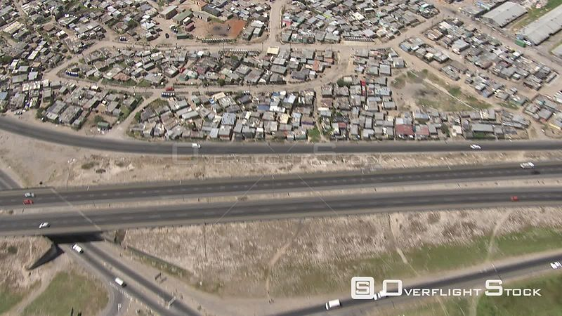 Aerial view of Khayelitsha in the Western Cape Cape Town. Western Cape South Africa