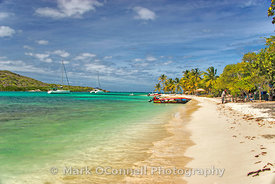 Long beaches in Tobago Cays
