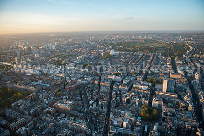 London. Aerial view of Marylebone and Mayfair