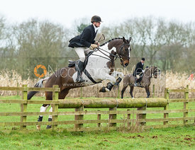 Harry Pepper jumping a fence at Goadby Marwood 11/1