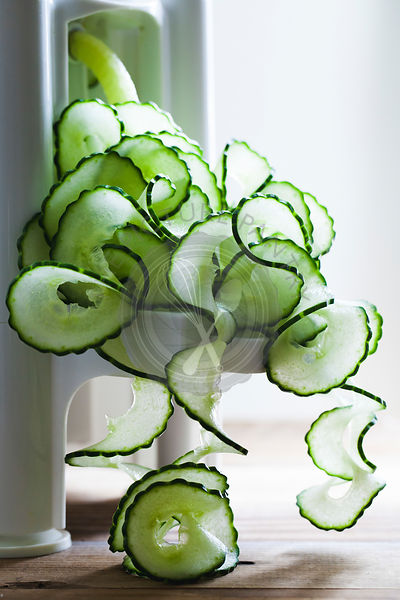 Spirals of cucumber