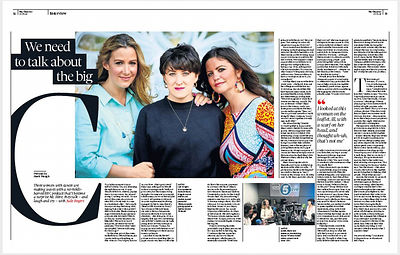 Rachael Bland, Lauren Mahon and Deborah James