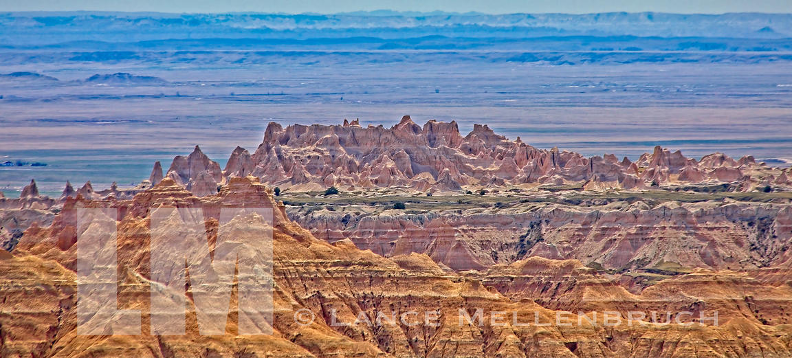 Panorama of Badlands