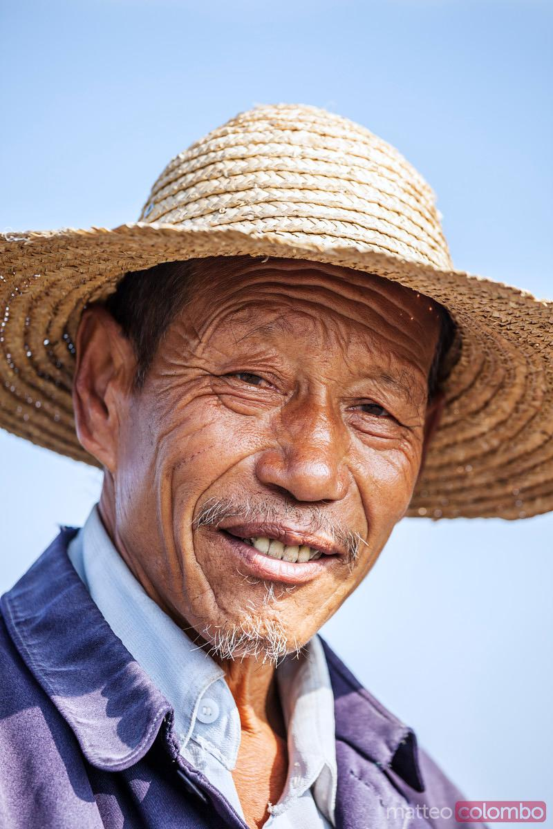 Portrait of chinese old man