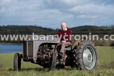 March, 2016.Pictured beside Lough Eigish, Castleblayney, County Monaghan on a 1963 'Little Grey' Ferguson tractor is Albert W...