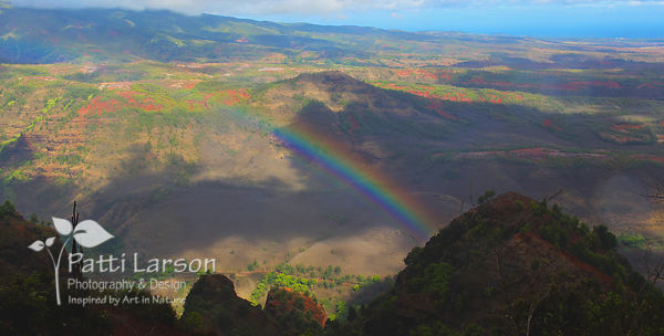Rainbow over Grand Canyon of the Pacific – Landscape View