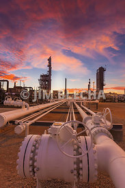 Natural Gas Plant Sunset