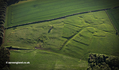 West Wykeham deserted medieval village DMV aerial photograph