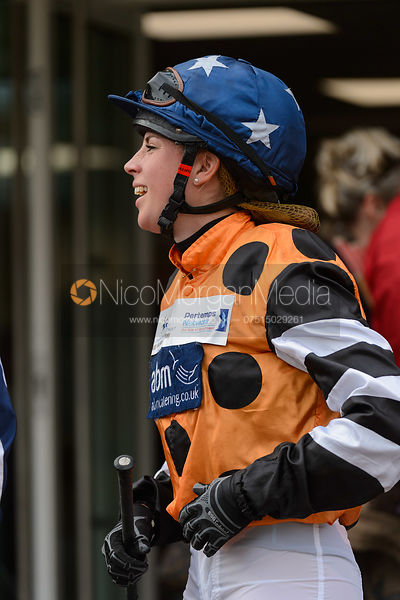 Ali Dane in the Parade Ring - Champions Willberry Charity Flat Race - Cheltenham Racecourse, April 20th 2017